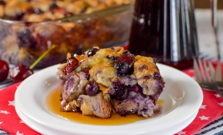 Cherry Blueberry French Toast Bake Recipe