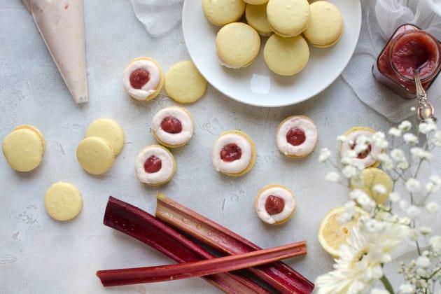 Rhubarb Lemon Macarons Image