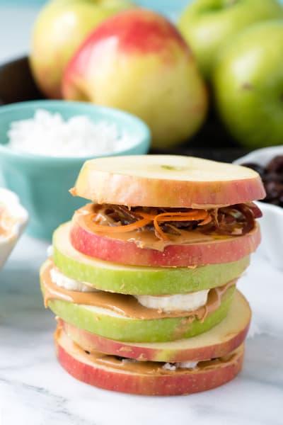 Apple Peanut Butter Sandwiches Image