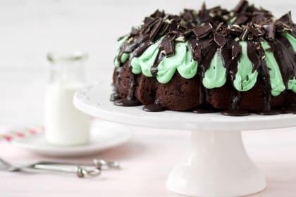 Grasshopper Bundt Cake