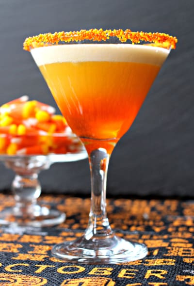 Candy Corn Martini Picture