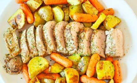 Rosemary Pork Tenderloin Sheet Pan Dinner Recipe
