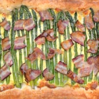 Asparagus Tart with Bacon Recipe