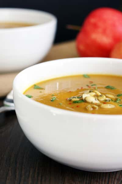 Curried Butternut Squash and Apple Soup Picture