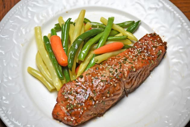 Roasted Teriyaki Salmon Image