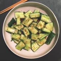 Sichuan Cucumber Recipe. Who said cucumbers are plain?