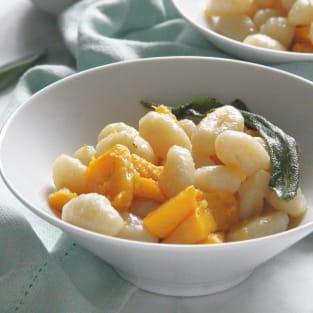 Pumpkin gnocchi with sage butter sauce photo