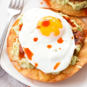 Breakfast Tostadas with Guacamole