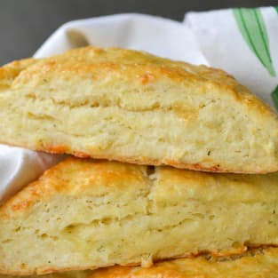 Garlic herb and cheddar scones photo