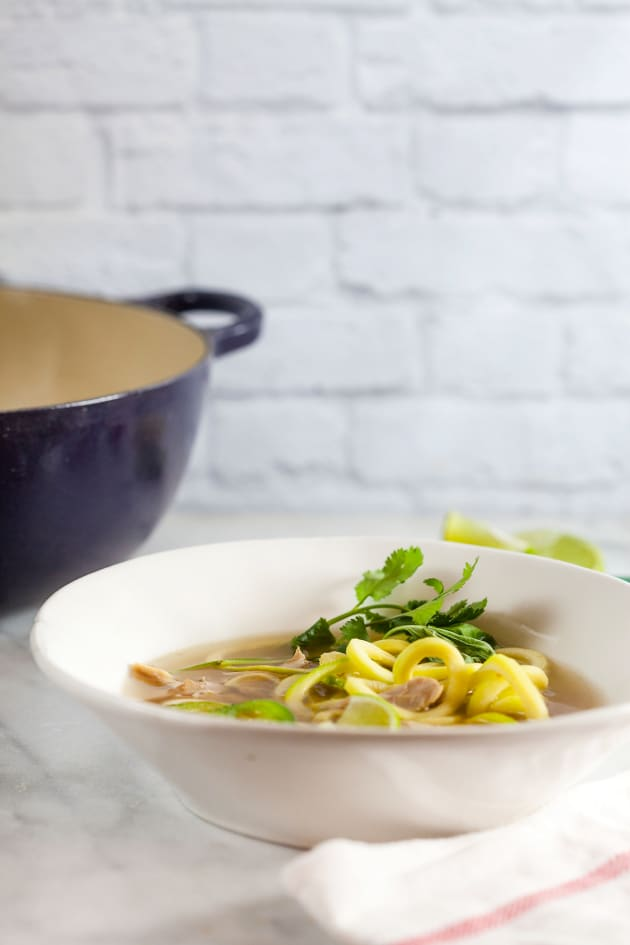 Thai Chicken Soup with Zucchini Noodles Image