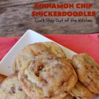 Cinnamon Chip Snickerdoodles