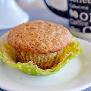 Fluffy banana muffins photo