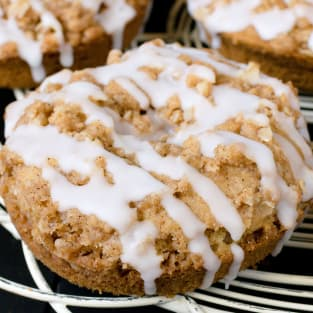 Cinnamon crumble donuts photo