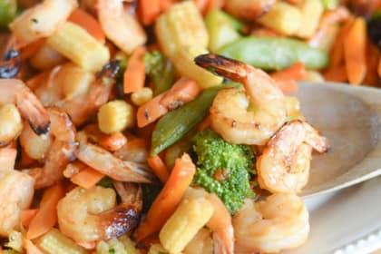Gluten Free Air Fryer Honey Garlic Shrimp