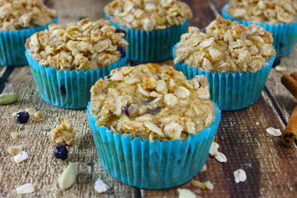Blueberry Jicama Muffins