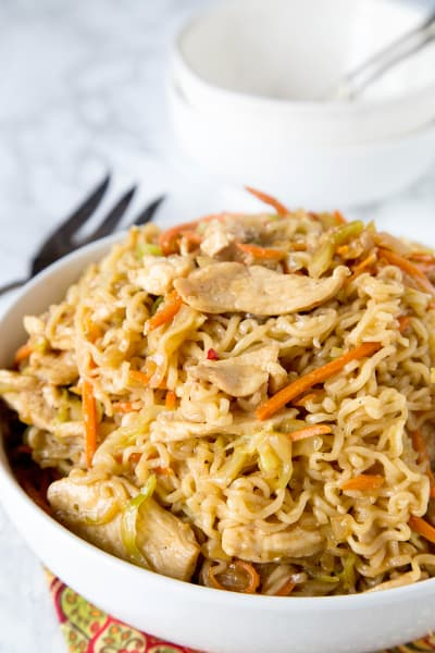 Chow Mein Noodles with Chicken Picture