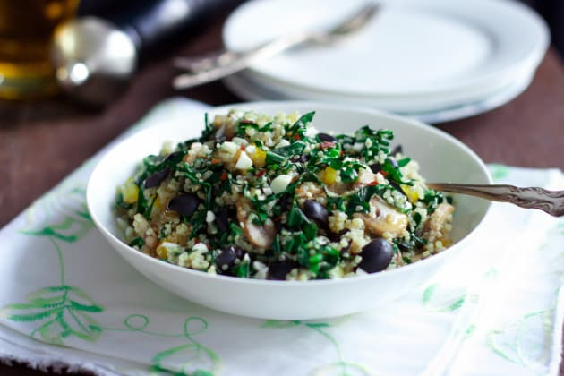 Kalamata Collard Quinoa Salad Photo