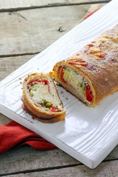 Roasted Red Pepper Prosciutto Stromboli Picture