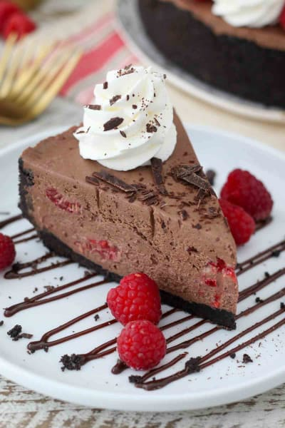 No-Bake Chocolate Raspberry Cheesecake Picture
