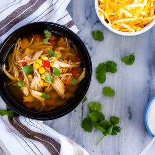 Instant pot chicken taco soup photo