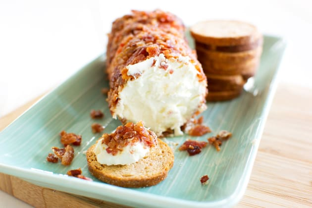 Bacon Goat Cheese Log Photo