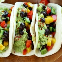 Guacamole Veggie Tacos Recipe