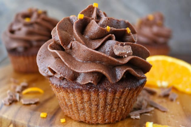 Air Fryer Chocolate Orange Cupcakes Photo