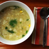 Sweet Corn Swimming Crab Soup