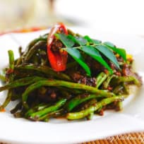 Vegetarian Kam Heong French Bean 素甘香四季豆