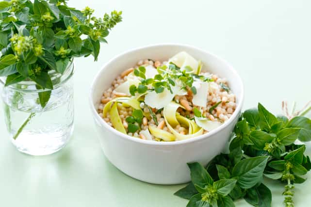 Deconstructed Pesto Couscous Salad Recipe
