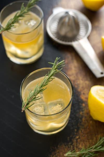 Bourbon Sour with Lemon & Rosemary Image