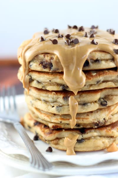 Peanut Butter Chocolate Chip Pancakes Picture