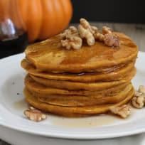 Whole Grain Pumpkin Pancakes Recipe