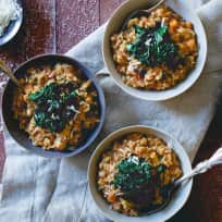 Tuscan White Bean Farro Risotto Recipe