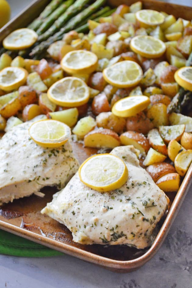 Lemon Chicken Asparagus Sheet Pan Dinner Pic