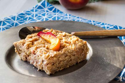 Baked Peach Oatmeal