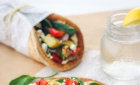 Zucchini and Hummus Pita Sandwiches Picture