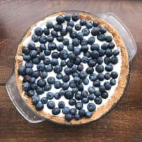 No Bake Blueberry Cream Pie with Graham Cracker Crust