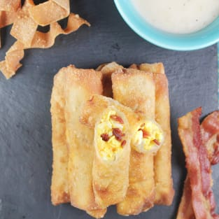 Bacon egg and cheese egg rolls photo