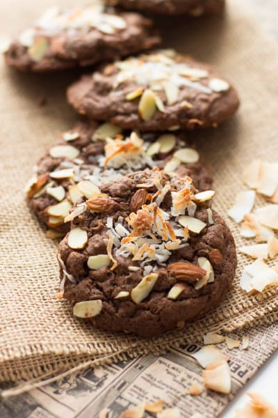 Double Chocolate Almond Joy Cookies Pic