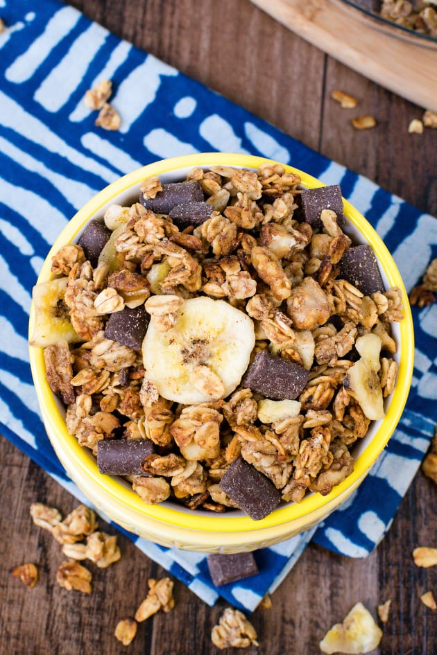 Peanut Butter Banana Chocolate Chunk Granola Pic