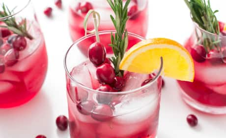 Cranberry Orange Bourbon Smash Recipe