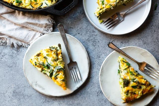 Broccoli Cheddar Zoodle Bake