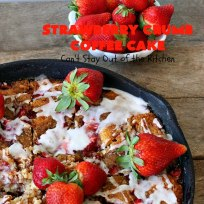 Strawberry Crumb Coffee Cake