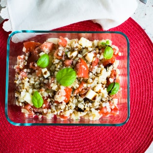 Cauliflower rice caprese photo