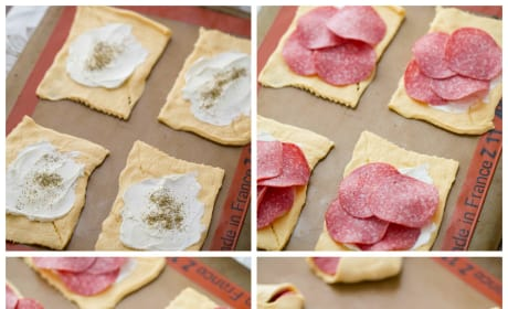 Salami and Cream Cheese Bundles Image