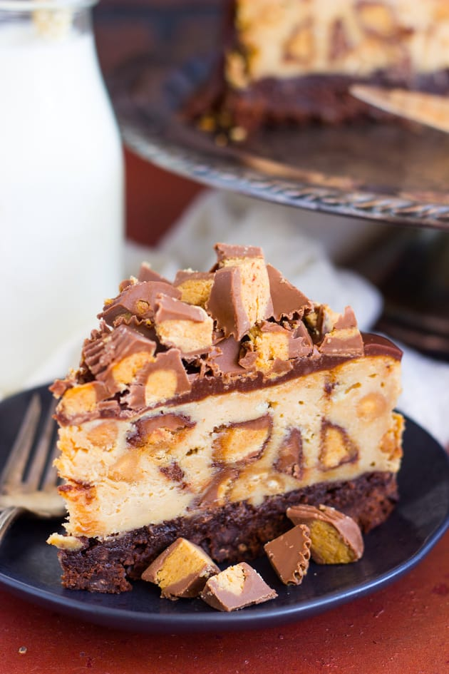 Peanut Butter Cup Brownie Cheesecake Food Fanatic