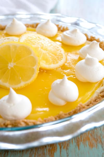 Lemon Cream Cheese Pie Picture