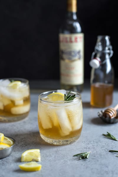 Lillet Spritzer with Honey and Rosemary Pic