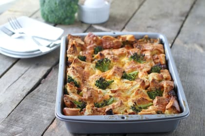 Sausage Strata with Broccoli for Holiday Brunch